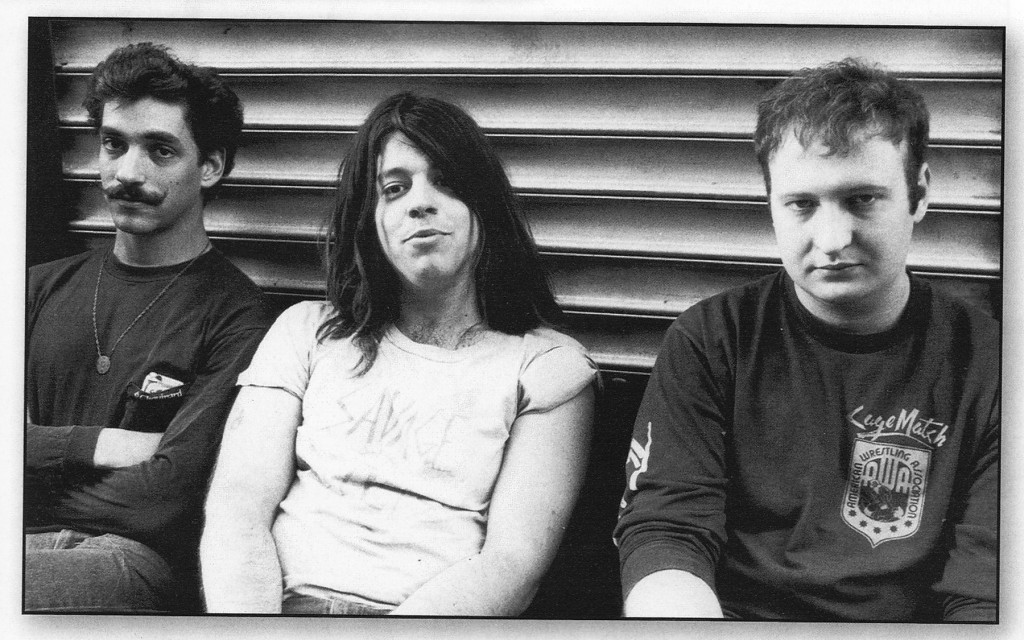 Hüsker Dü circa 1985. Greg Norton, Grant Hart, Bob Mould.