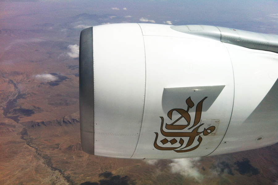 Passing near Isfahan, Iran, on the DXB-BOS leg.