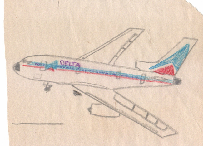 My rendering of a Delta L-1011, circa 1975.