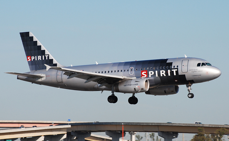 Spirit Airlines Ashtray Livery