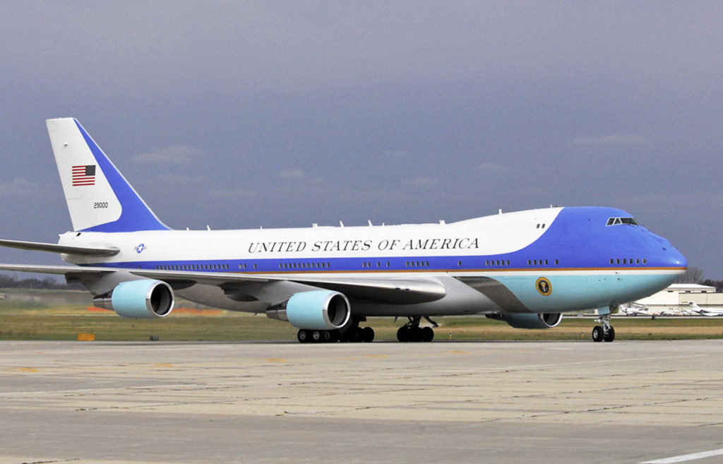 Statecraft Trump Unveils New Air Force One Livery